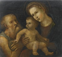 the madonna and child with saint jerome by andrea mantegna