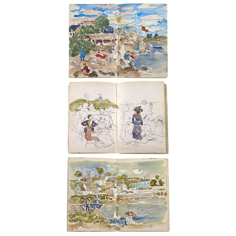 a sketchbook bk w130 works by maurice brazil prendergast