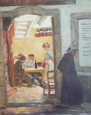 Lintérieur de café à Douarnenez von Lucien Simon auf artnet