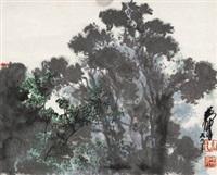 榕树 立轴 设色纸本 by huang zhou