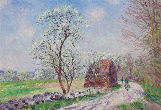 le chemin de butte, retour en forêt by alfred sisley