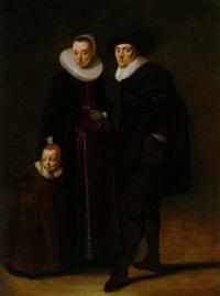 bildnis eines ehepaares mit seinem kind by gerard van donck