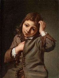 ung pojke som kliar sig i huvudet by michael sweerts
