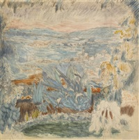 paysage du cannet by pierre bonnard