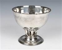 the louvre silver pedestal bowl by georg jensen (co.)