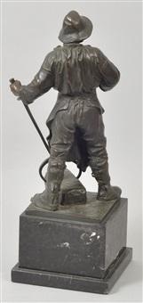 Antike Originale Vor 1945 Bronze Figur Eisengießer Hüttenman Frieder Friedrich Johann Reusch Antiquitäten & Kunst