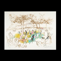 at the races by leroy neiman