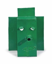 untitled (green green rub mask m11.c) by mark grotjahn