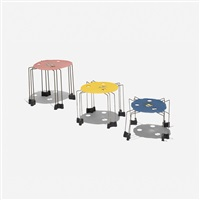 triple play nesting tables (set of 3) by gaetano pesce