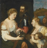 allegory of marriage (allegory of alfonso d'avalos) by titian (tiziano vecelli)