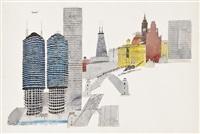 chicago skyline by paul hogarth