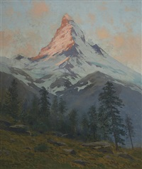 a majestic mountain by charles partridge adams