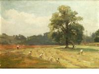 harvesting scene by james aumonier