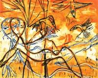 lovers in crow landscape by davida allen