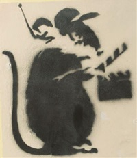 action rat by banksy