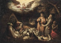 the adoration of the shepherds by david vinckboons