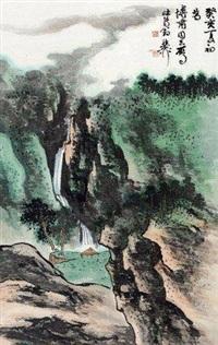 山水 镜心 纸本 by xie zhiliu