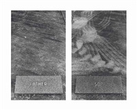 untitled (the graves) (diptych) by sophie calle