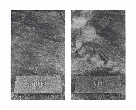 untitled the graves diptych by sophie calle