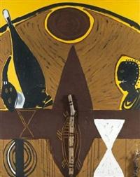 bushman painting, new york by ouattara watts