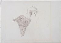 self-portrait as angel (for the museum of modern art series left wing) by hannah wilke