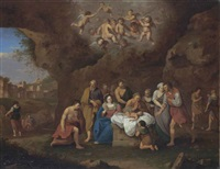 the adoration of the shepherds by cornelis van poelenburgh
