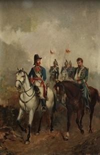 militares a caballo by manuel picolo y lopez