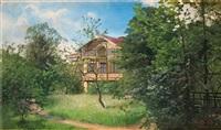 hus i lummig trädgård by alfred thörne