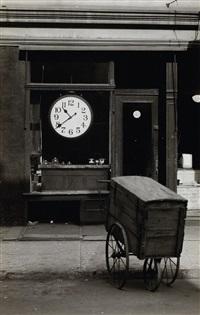 repair shop, christopher street, new york by berenice abbott