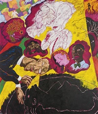 last rights: the spirits of the dead are watching by robert h. colescott