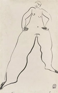 女人体 (female nude) by sanyu