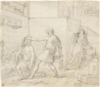 la decollazione del battista, inizio xix secolo by jean baptiste joseph wicar