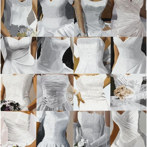 white on white sixteen wedding dresses iii by julia jacquette