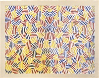corpse and mirror (ulae 169) by jasper johns