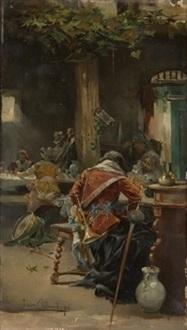 mosqueteros en la taberna by eugenio lucas villamil
