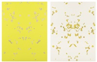 baden baden (yellow), baden baden (white) (2 works) by adam mcewen
