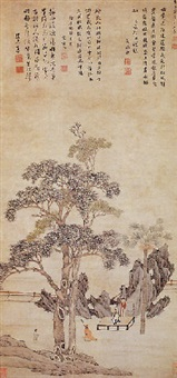 listeneng to the qin by wang qisun
