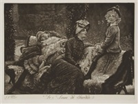 le banc de jardin by james jacques joseph tissot