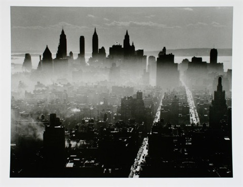 lower manhattan from midtown ua 6 works by andreas feininger