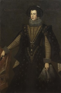portrait of isabella bourbon, queen of spain by bartolomé gonzalez
