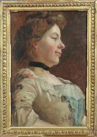 jeune femme de profil by joseph bail