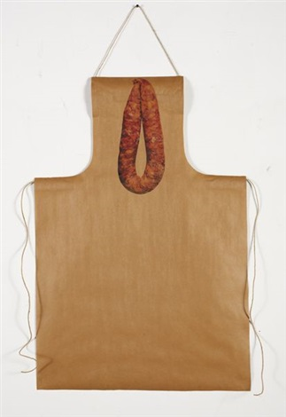 untitled apron and thai pork sausage recipe by rirkrit tiravanija