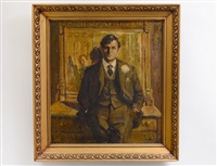 portrait of a gentleman by ernest lawson