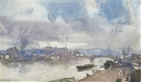 impression of rouen by leonard russel squirrell