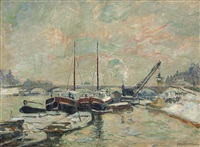 quai de la seine à paris by armand guillaumin