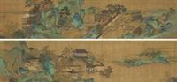 消夏图 (二幅) (2 works) by qiu ying