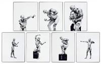 anatomie artistique de l'homme (portfolio of 7 + lithograph) by jean-luc verna