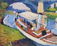 bateau sur la seine, environs de paris by andré derain