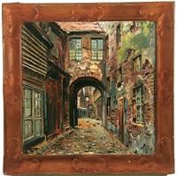 village street scene by kurt pallmann