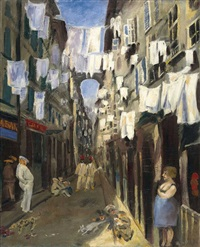 gasse in marseille by karl schwesig